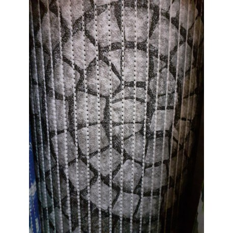 pěnová předložka do koupelny metráž 80cm šíře - šedé kameny