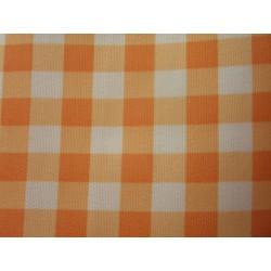 ubrus Kanapes 125*145cm kostky oranžové a bílé PES