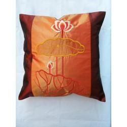Povlečení na polštářek 45*45cm hedvábí - oranžový lotos