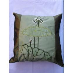 Povlečení na polštářek 45*45cm hedvábí - zelený lotos