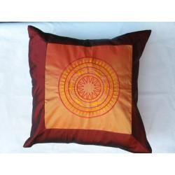 Povlečení na polštářek 45*45cm hedvábí - oranžový kruh