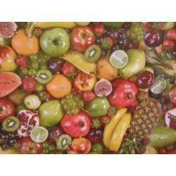 ubrus metráž pogumovaná textilie 140cm šíře - ovoce