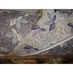 Potahová čalounická metrážní látka 140cm šíře - fialové listy