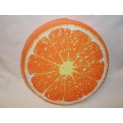 jednostranný kulatý sedák - pomeranč