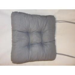 čtvercový sedák s tkaničkami - prošívaný šedý