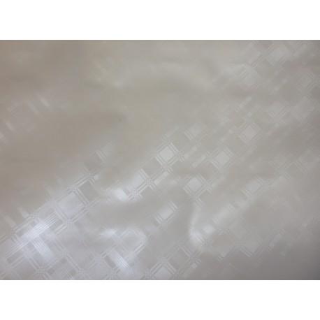 Ubrus metráž pogumovaná textilie 140cm šíře - jednobarevný, bílý, vytlačované kosočtverce