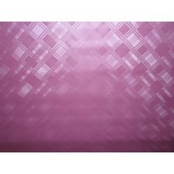 Ubrus metráž pogumovaná textilie 140cm šíře -  jednobarevný, fialovo/růžová, vytlačované kosočtverce