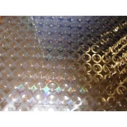 Ubrus metráž pogumovaná textilie 140cm šíře - průhledný s kruhy